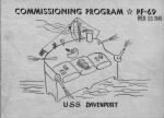 FRONT COVER: Commissioning Program - PF-69, Feb.15, 1945