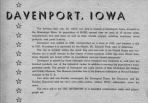 BACK COVER: Davenport, Iowa - a description of the city for which the PF-69 was named